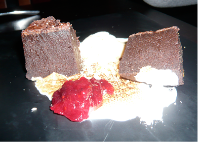 THIS RICH DESSERT CAN EASILY BE SHARED BY TWO OR THREE.